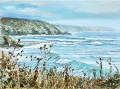 Kennack Sands 300mm x 410mm, oil on canvas