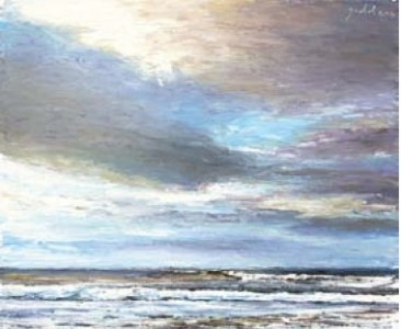 Sea and Sky Study 250mm x 300mm, oil on linen,